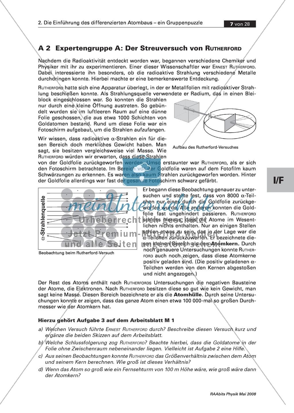 Famous Modelle Des Atoms Arbeitsblatt Elaboration - Kindergarten ...