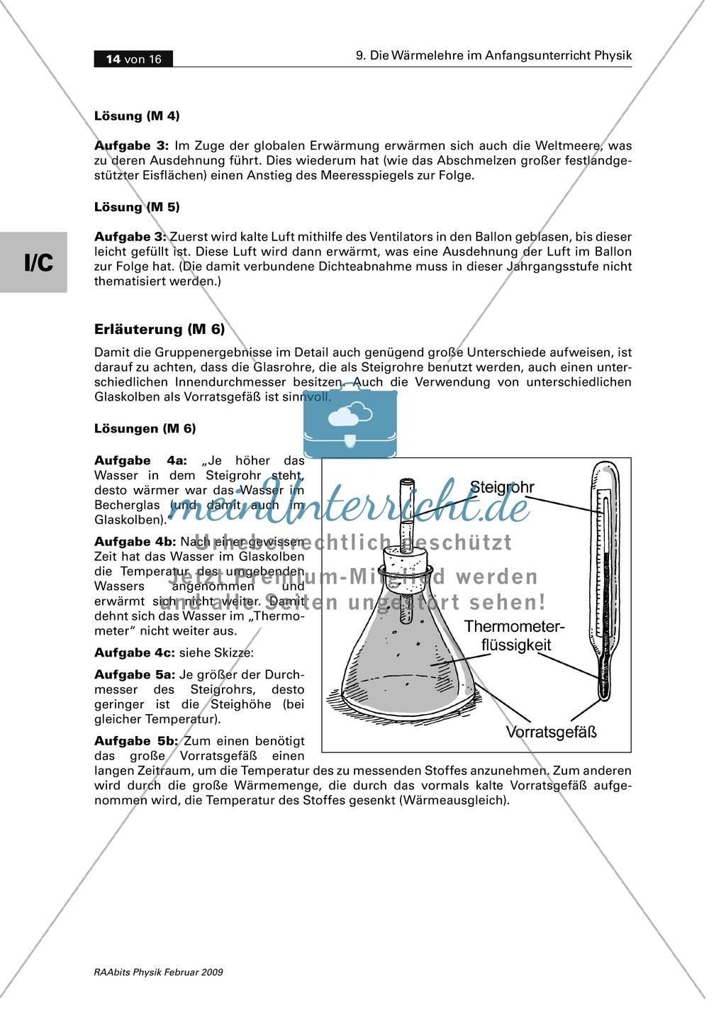 Die Wärmelehre: Thermometer - Bau + Geschichte + Skalen + Typen Preview 5