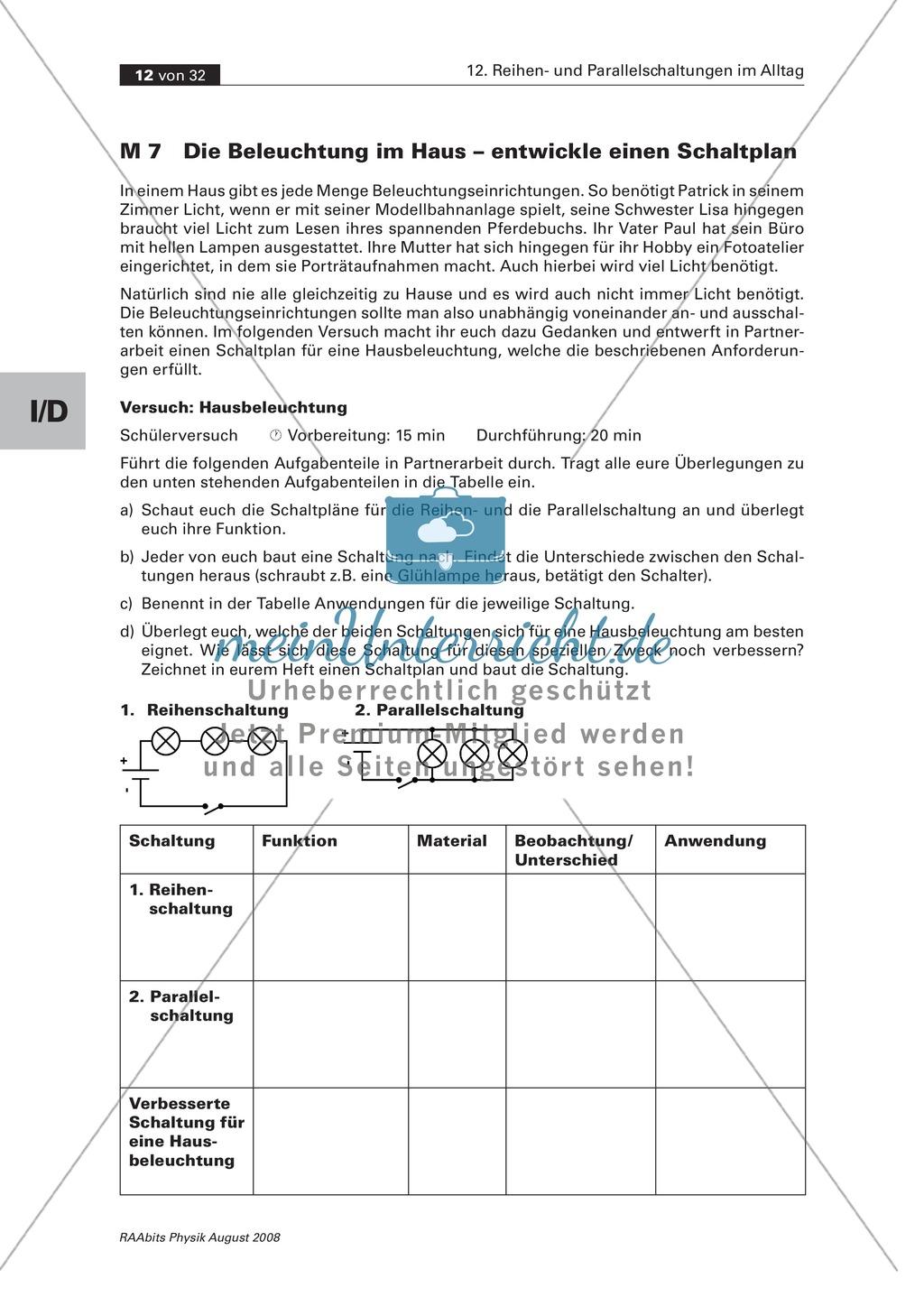 Ausgezeichnet Schaltplan Der Hausbeleuchtung Zeitgenössisch - Der ...