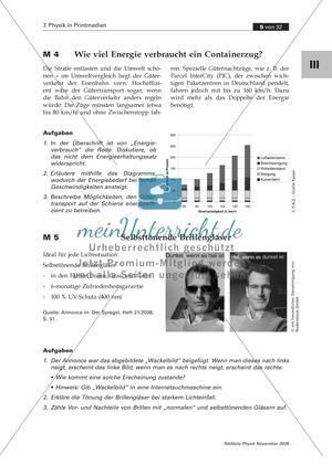 Physik im Alltag: Zeitungsausschnitt zu UV-A + UV-B + Lichtabsorption