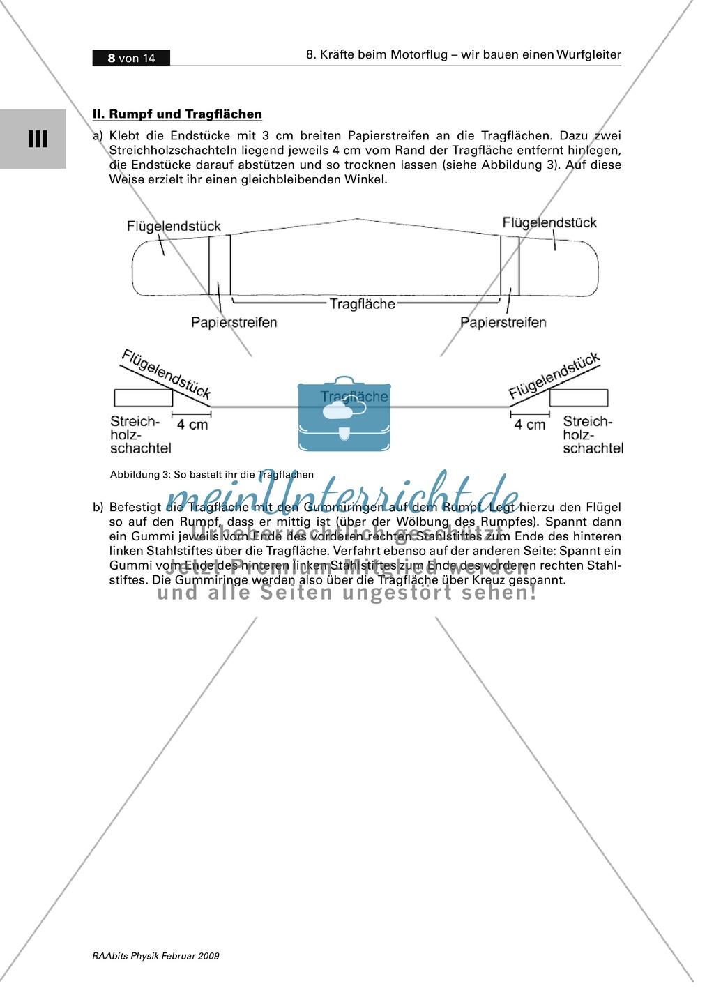 Bauanleitung für einen Gleitflieger aus Sperrholz mit Propellerantrieb. Preview 3