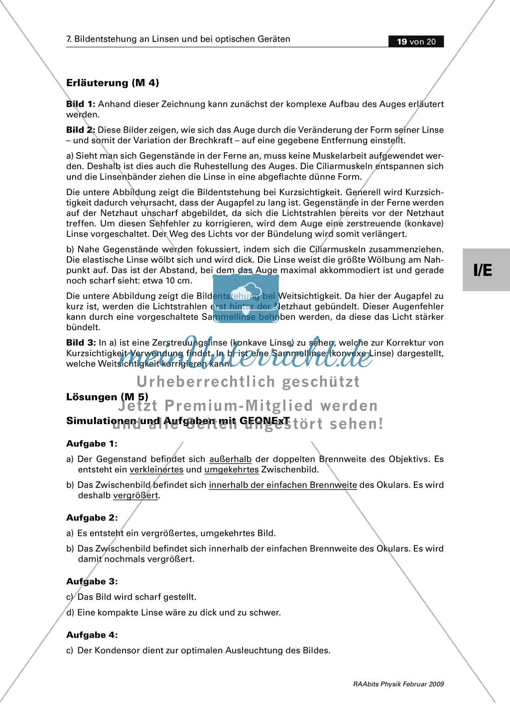 Infomaterial über das menschliche Auge und Fehlsichtigkeit. Preview 2