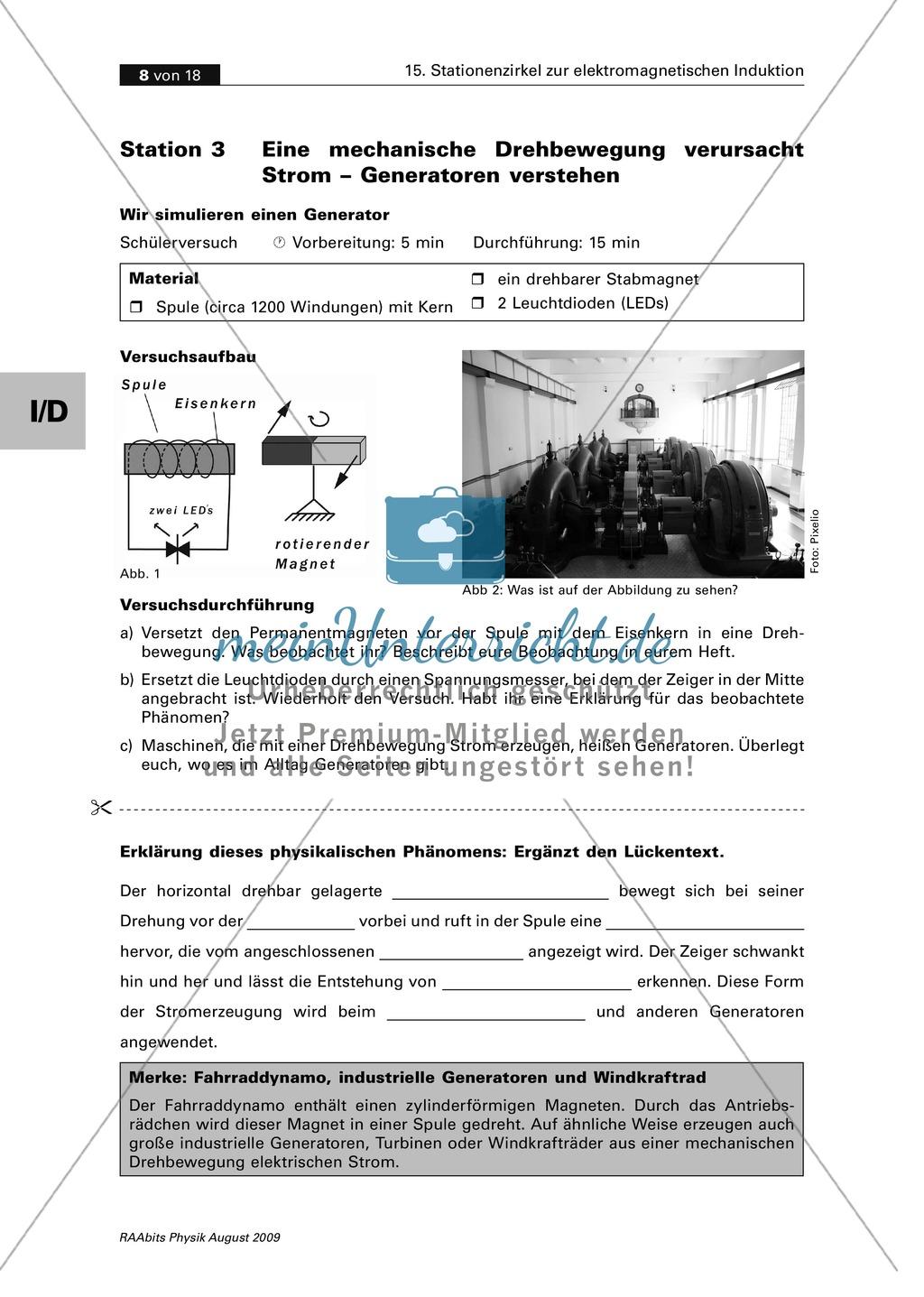 Elektrizitätslehre: Stationenlernen zum Thema elektromagnetische ...