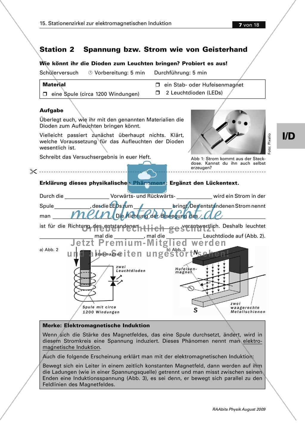 Elektrizitätslehre: Den Generator verstehen. Mit Schülerversuch ...
