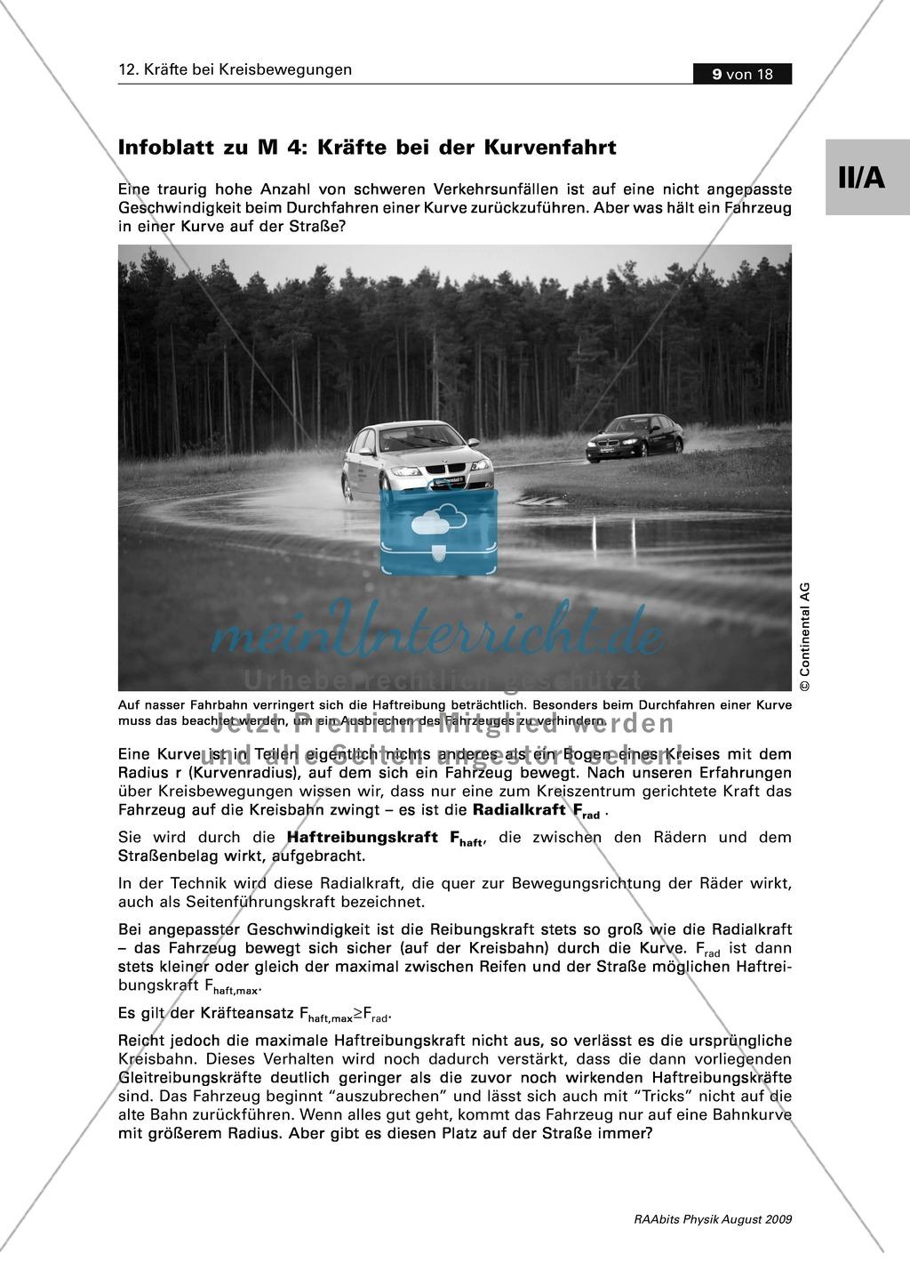 Kräfte bei Kreisbewegungen: Fahrzeuge in der Kurve - Kräfte + ...