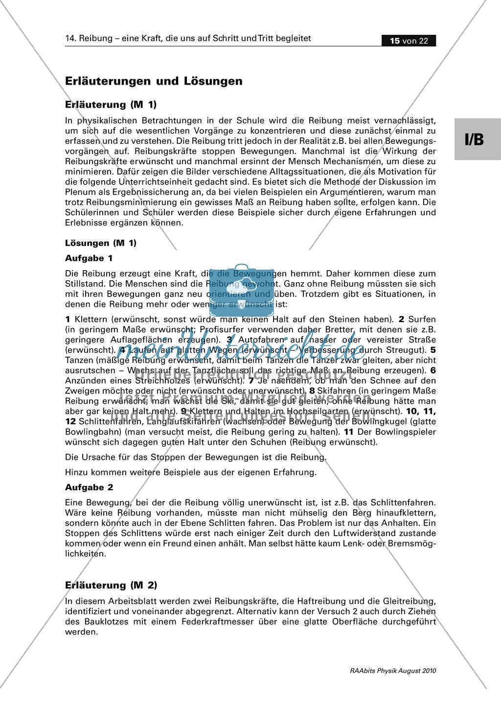 Reibung: Reibungsformen - Haften + Gleiten + Rollen Preview 4