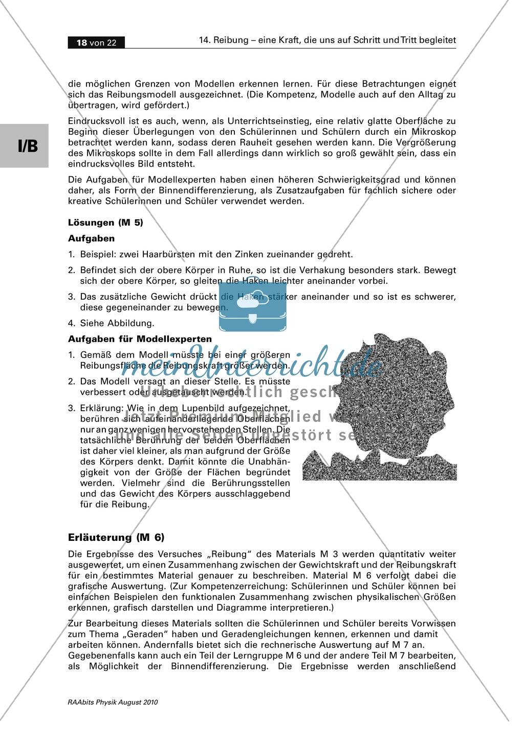 Reibung: Zwei Auswertungsmethoden der Physik - grafisch + rechnerisch Preview 4