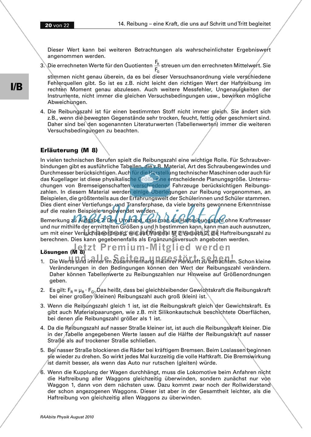Reibung: Zwei Auswertungsmethoden der Physik - grafisch + rechnerisch Preview 6