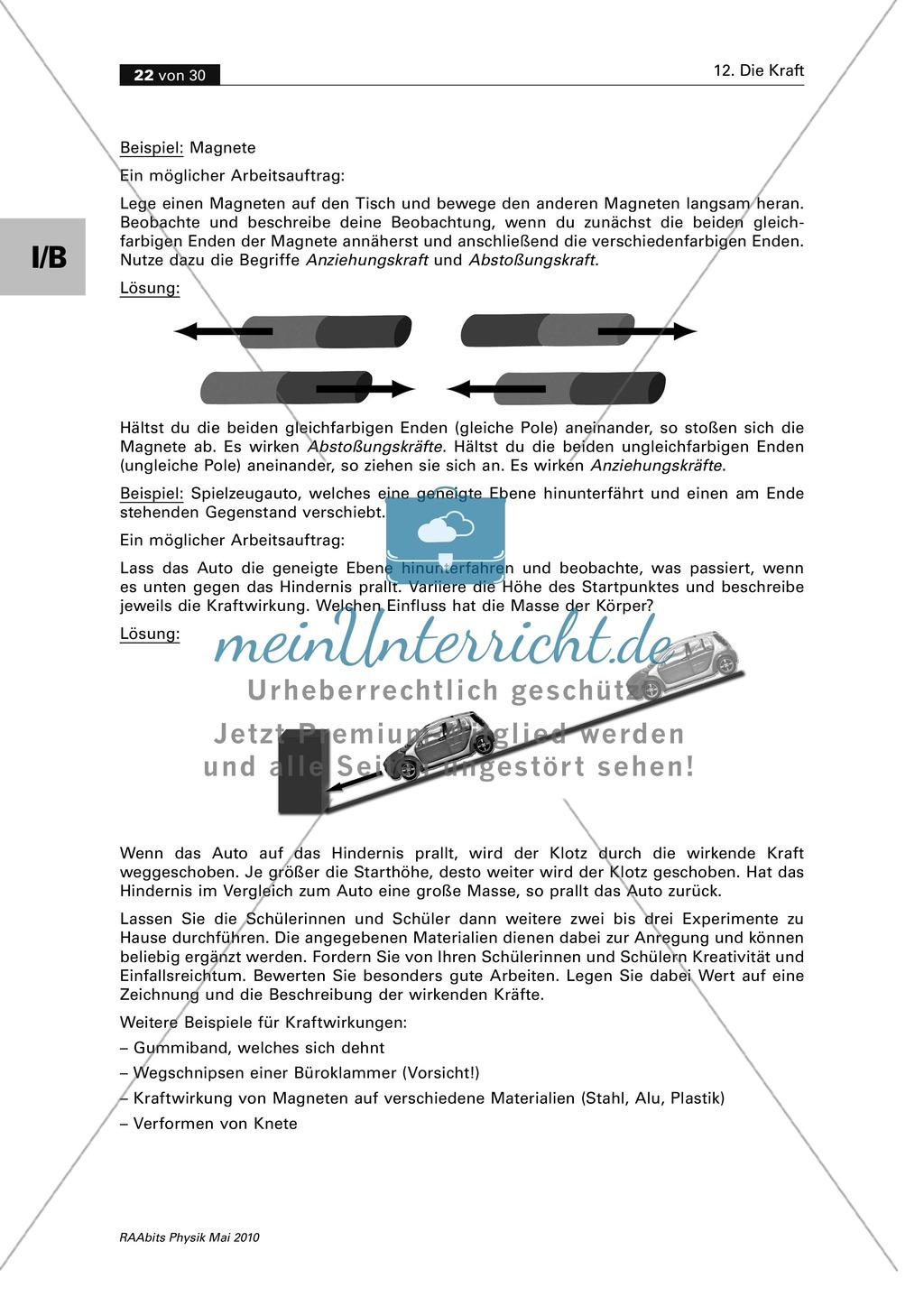 Berühmt Verschiedene Arten Von Kräften Arbeitsblatt Galerie - Super ...