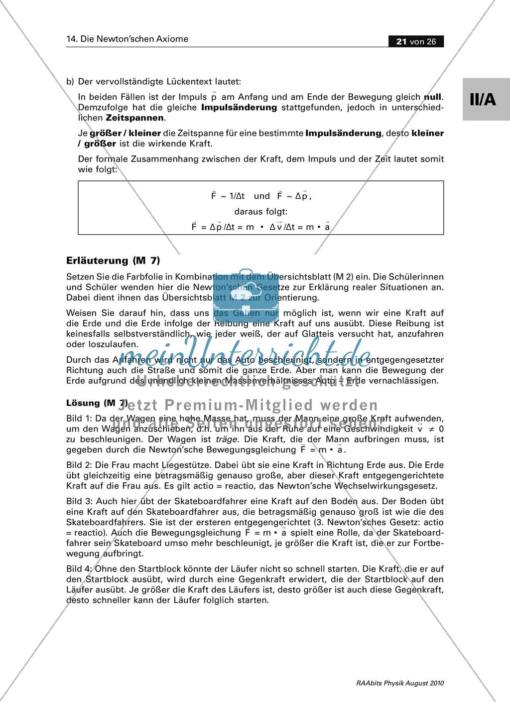 Die Newton\'schen Gesetze im Alltag: Übungen und Experimente ...