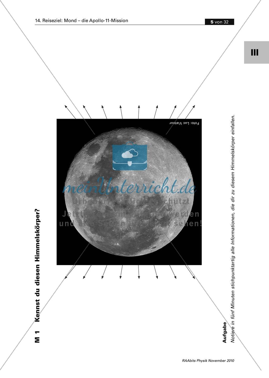Der Mond - die Apollo-11-Mission: Mondlandung - Einstieg in das ...