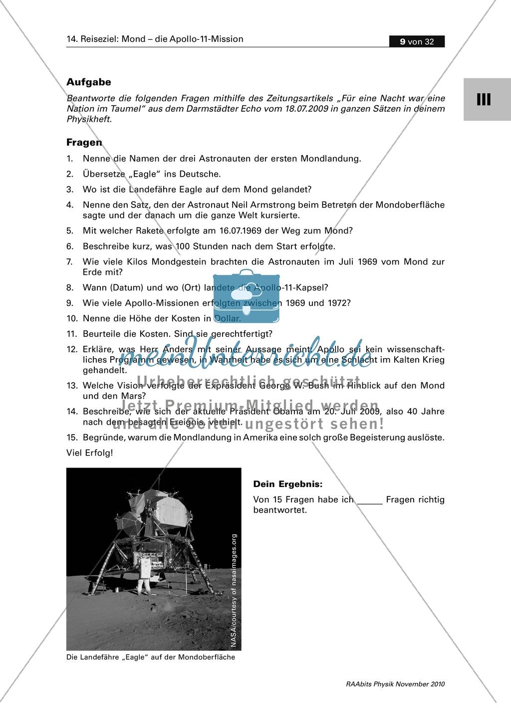 Contemporary Apollo 13 Arbeitsblatt Antworten Sketch - Kindergarten ...