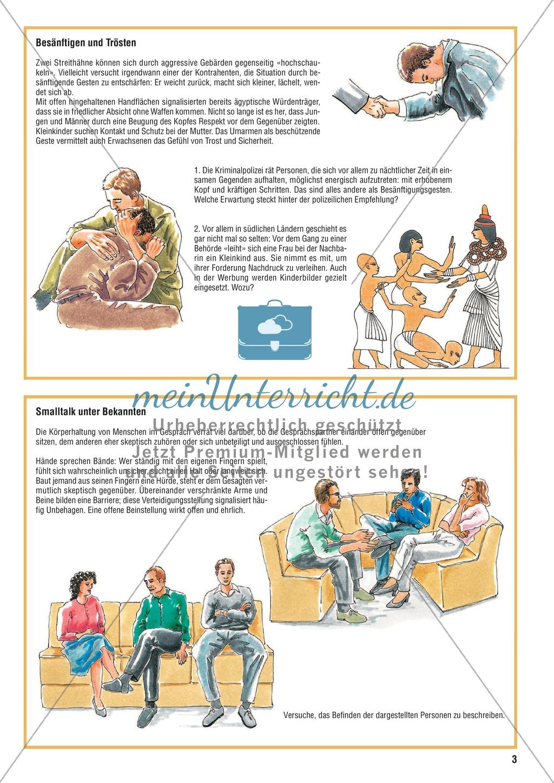 Kommunikation durch Mimik und Gestik erkennen und bewerten Preview 2