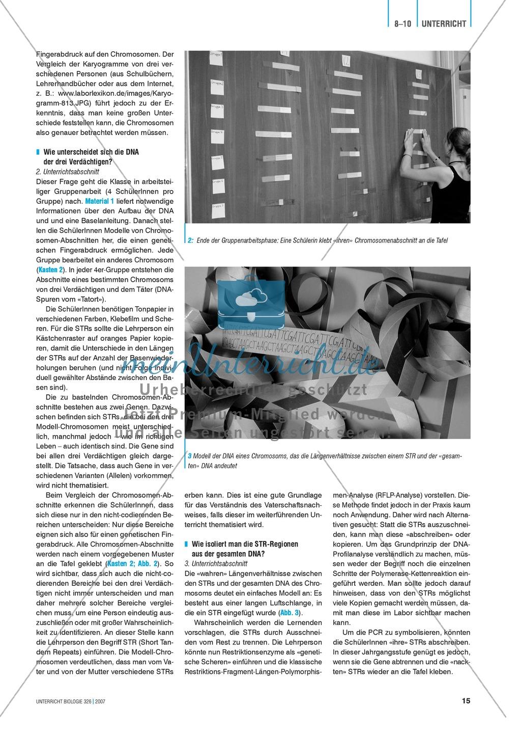 Dem Täter auf der Spur: der genetische Fingerabdruck Preview 2