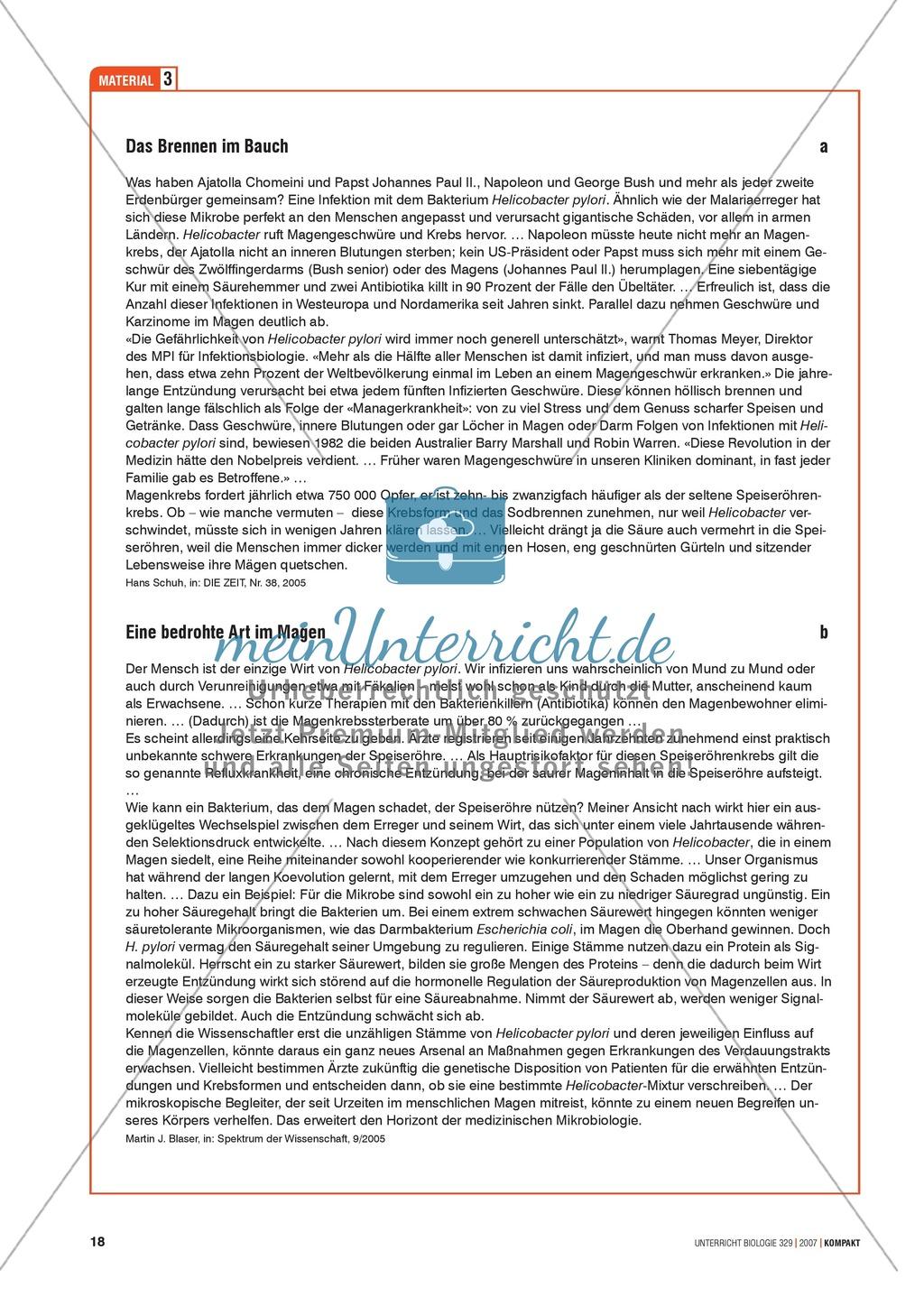 Alltagsvorstellungen zur Mikrobiologie - Zellen und Bakterien: Info-Text und Aufgaben Preview 4