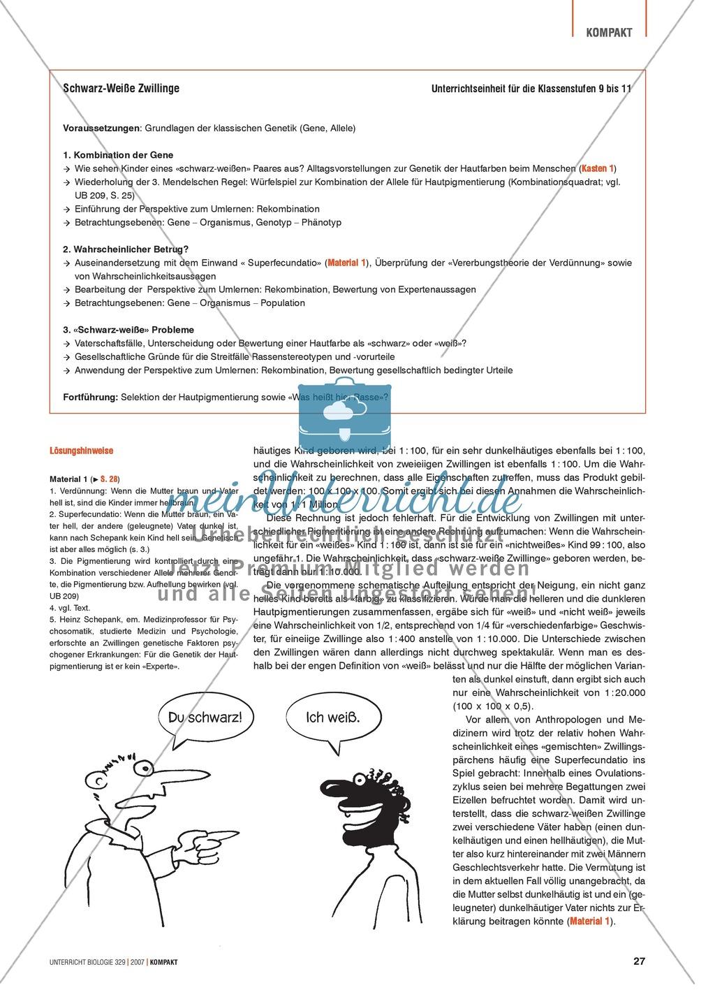Alltagsvorstellungen zur Genetik - Gene, Merkmale und Rekombination: Info-Text und Aufgaben Preview 3