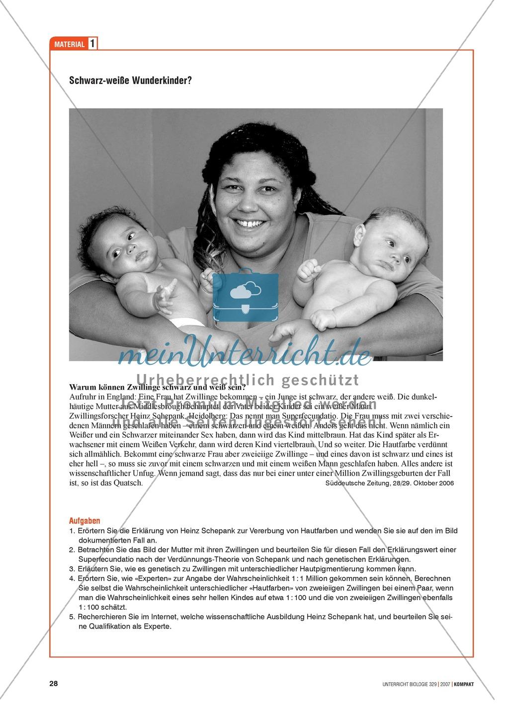 Alltagsvorstellungen zur Genetik - Gene, Merkmale und Rekombination: Info-Text und Aufgaben Preview 4