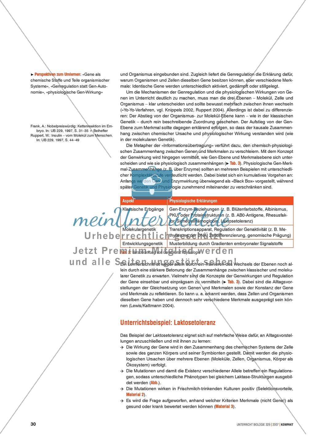 Alltagsvorstellungen zur Genetik: Genfunktion, Genregulation und Mutation: Info-Text und Aufgaben Preview 1