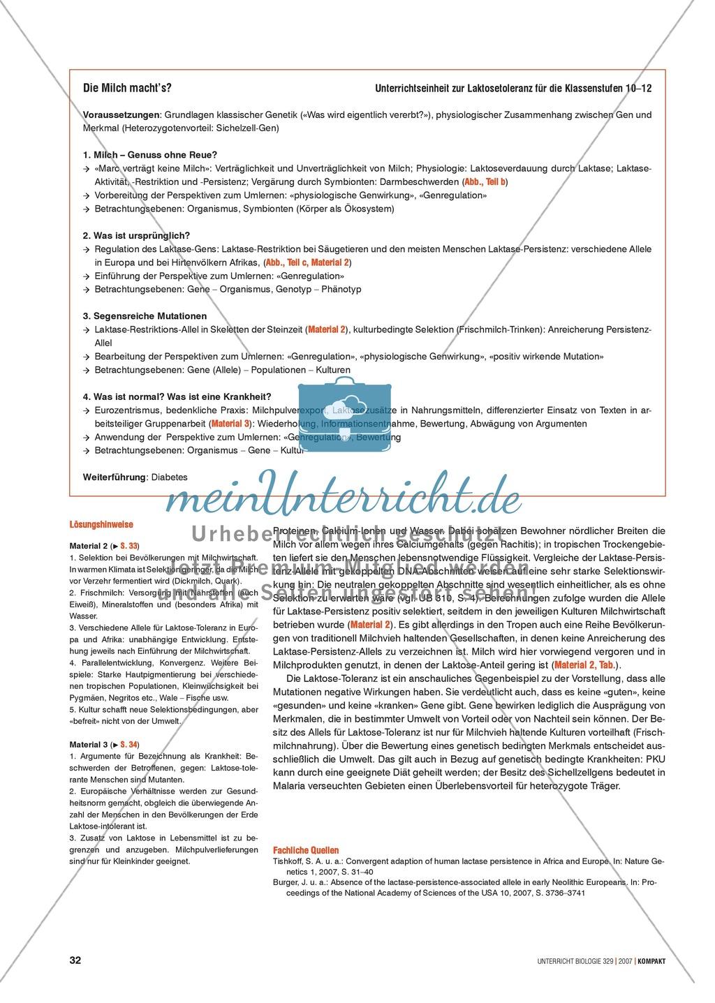 Alltagsvorstellungen zur Genetik: Genfunktion, Genregulation und Mutation: Info-Text und Aufgaben Preview 3