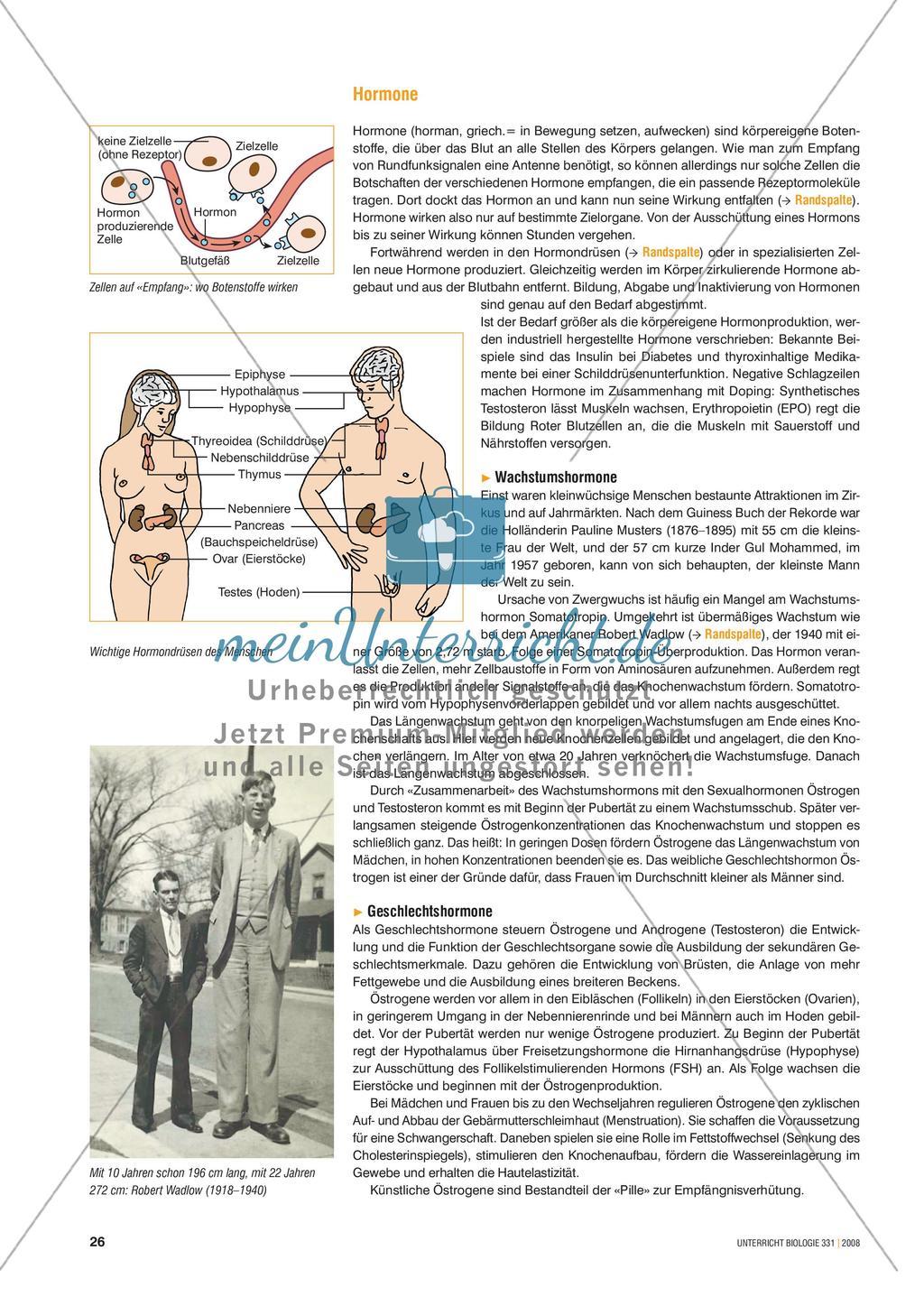 Signalstoffe: Der Fall Ashley - Merkmale und Behandlungsmöglichkeiten von Hormonstörungen Preview 1
