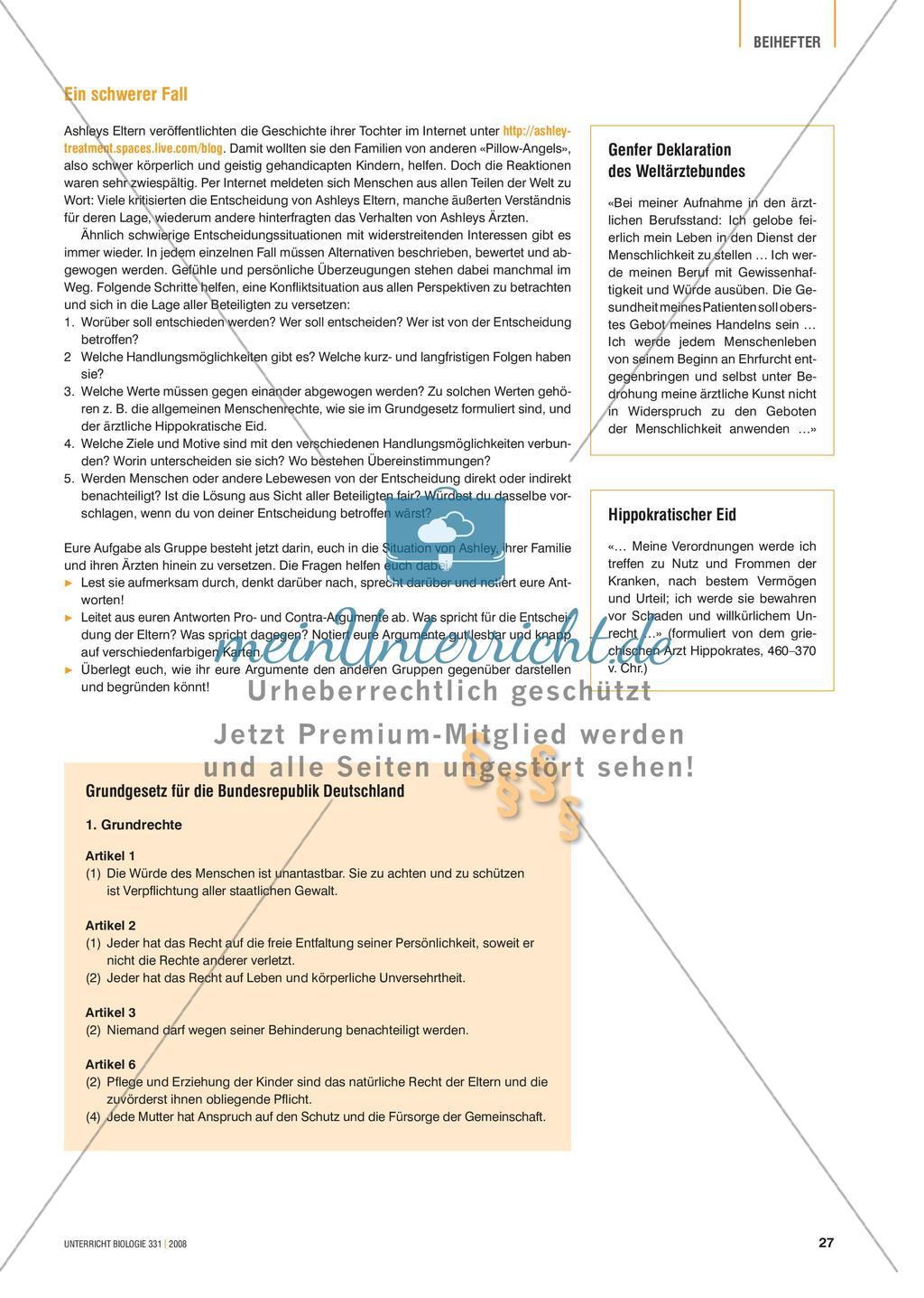 Signalstoffe: Der Fall Ashley - Merkmale und Behandlungsmöglichkeiten von Hormonstörungen Preview 2