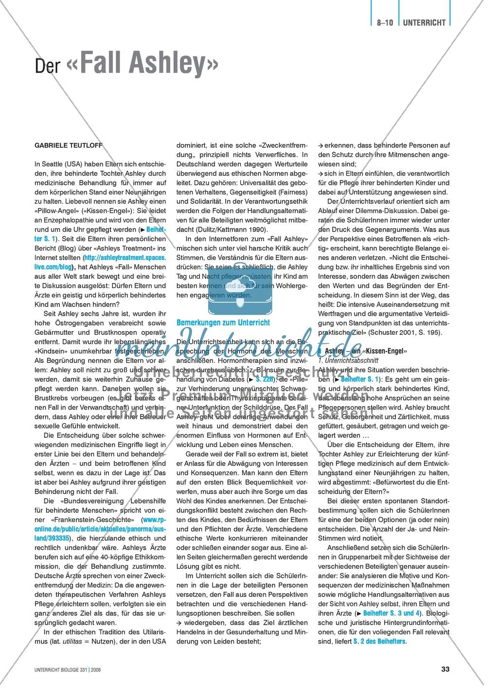 Signalstoffe: Der Fall Ashley - Merkmale und Behandlungsmöglichkeiten von Hormonstörungen Preview 4