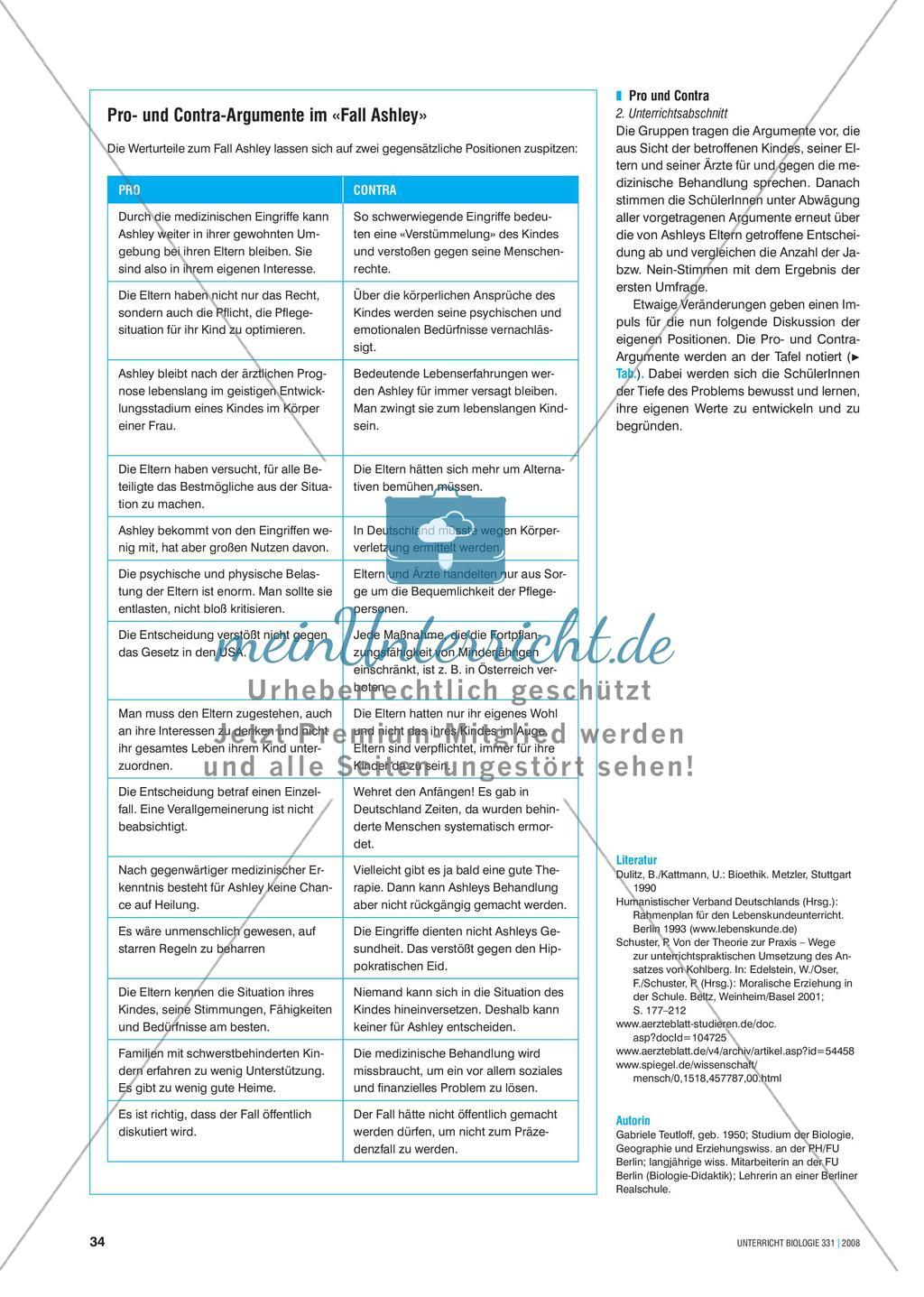 Signalstoffe: Der Fall Ashley - Merkmale und Behandlungsmöglichkeiten von Hormonstörungen Preview 5