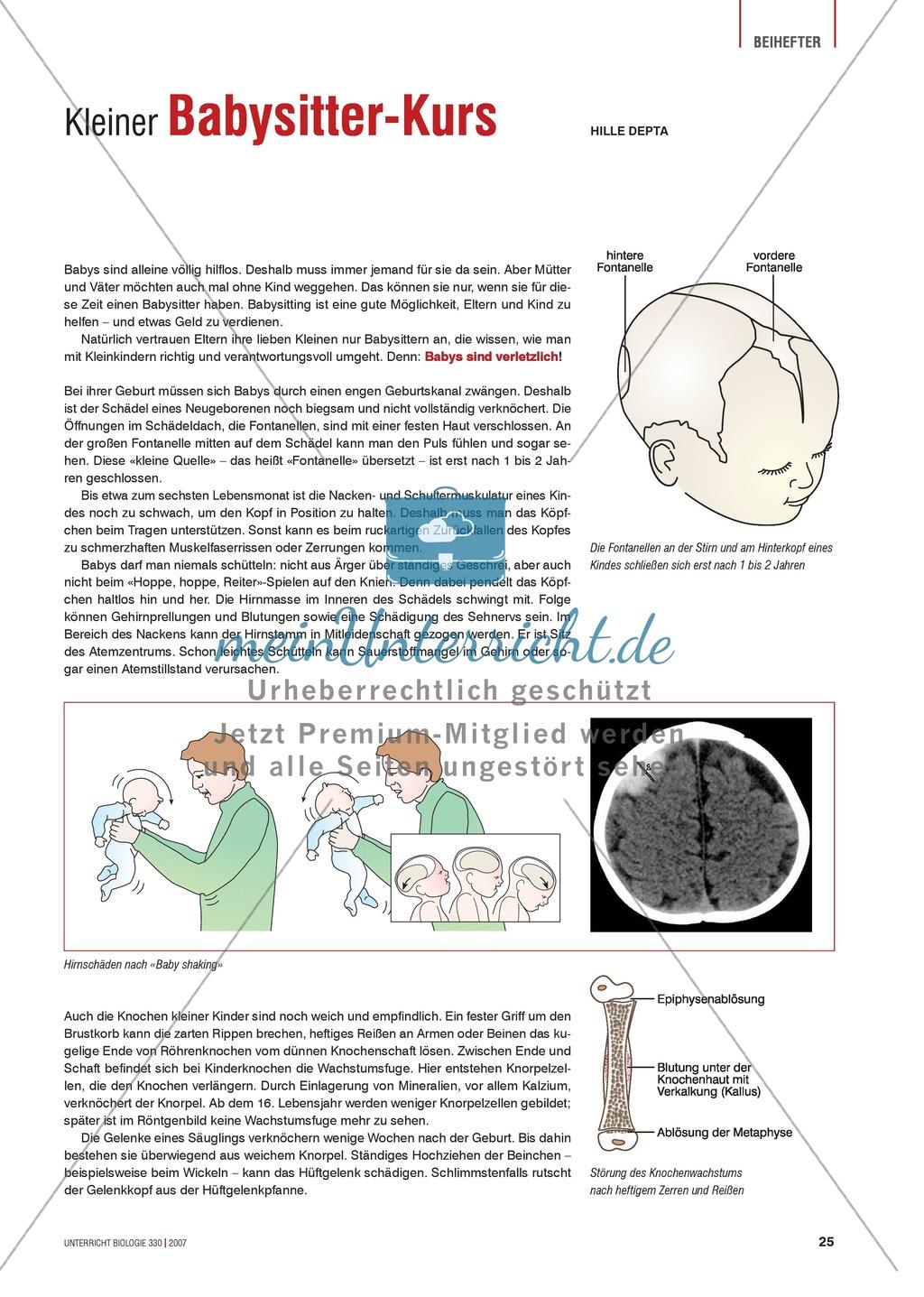 Gesundheit Babysitter Pass Was Muss Ich Beim Umgang Mit Babys Beachten