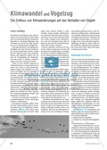 Biologie, Bau und Funktion von Biosystemen, Tier, Vögel, Vogel, Klimawandel