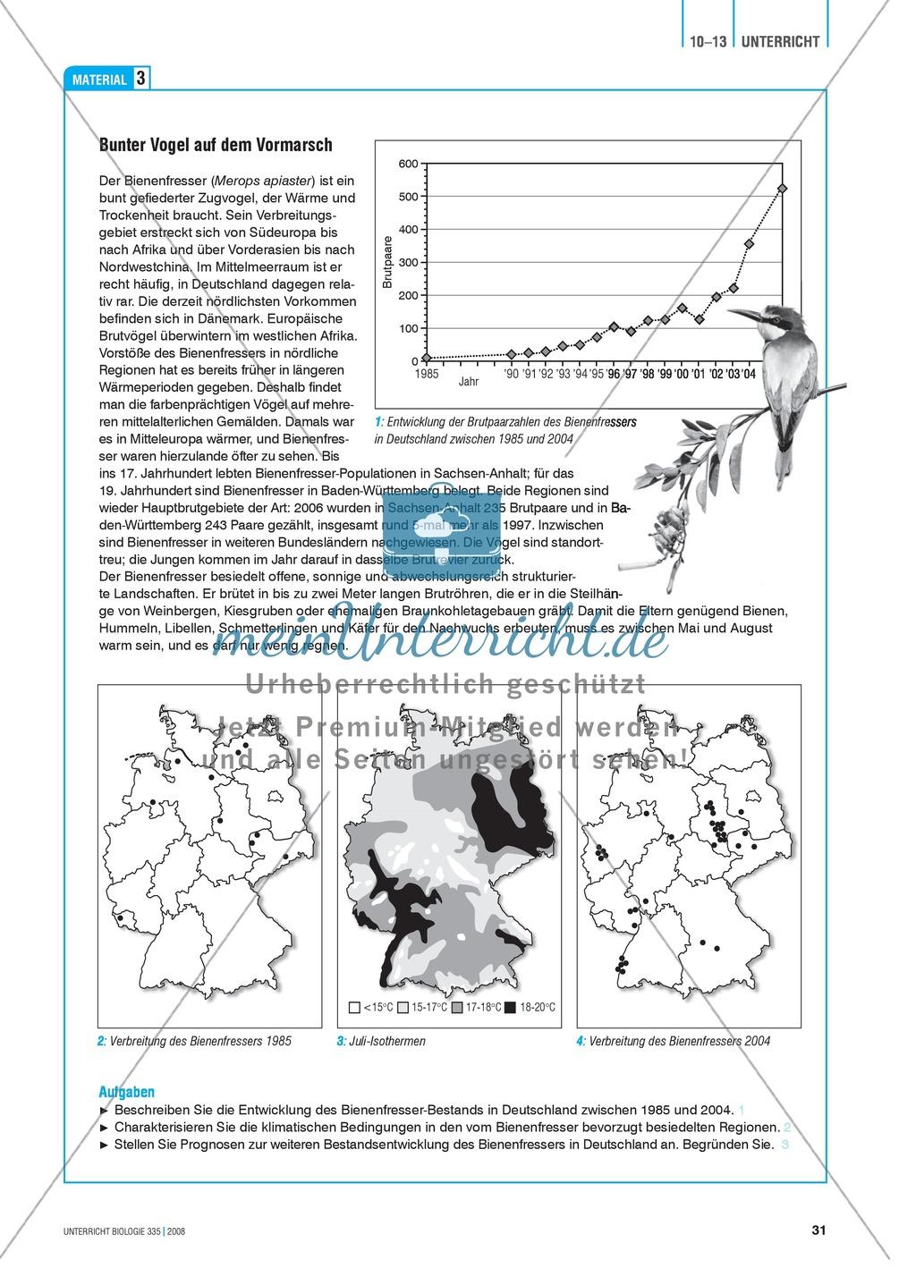 Klimawandel und Vogelzug: Der Einfluss von Klimaveränderungen auf das Verhalten von Vögeln - Info-Text und Aufgaben Preview 5