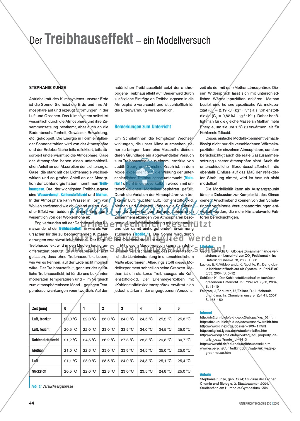 Der Treibhauseffekt - ein Modellversuch Preview 0