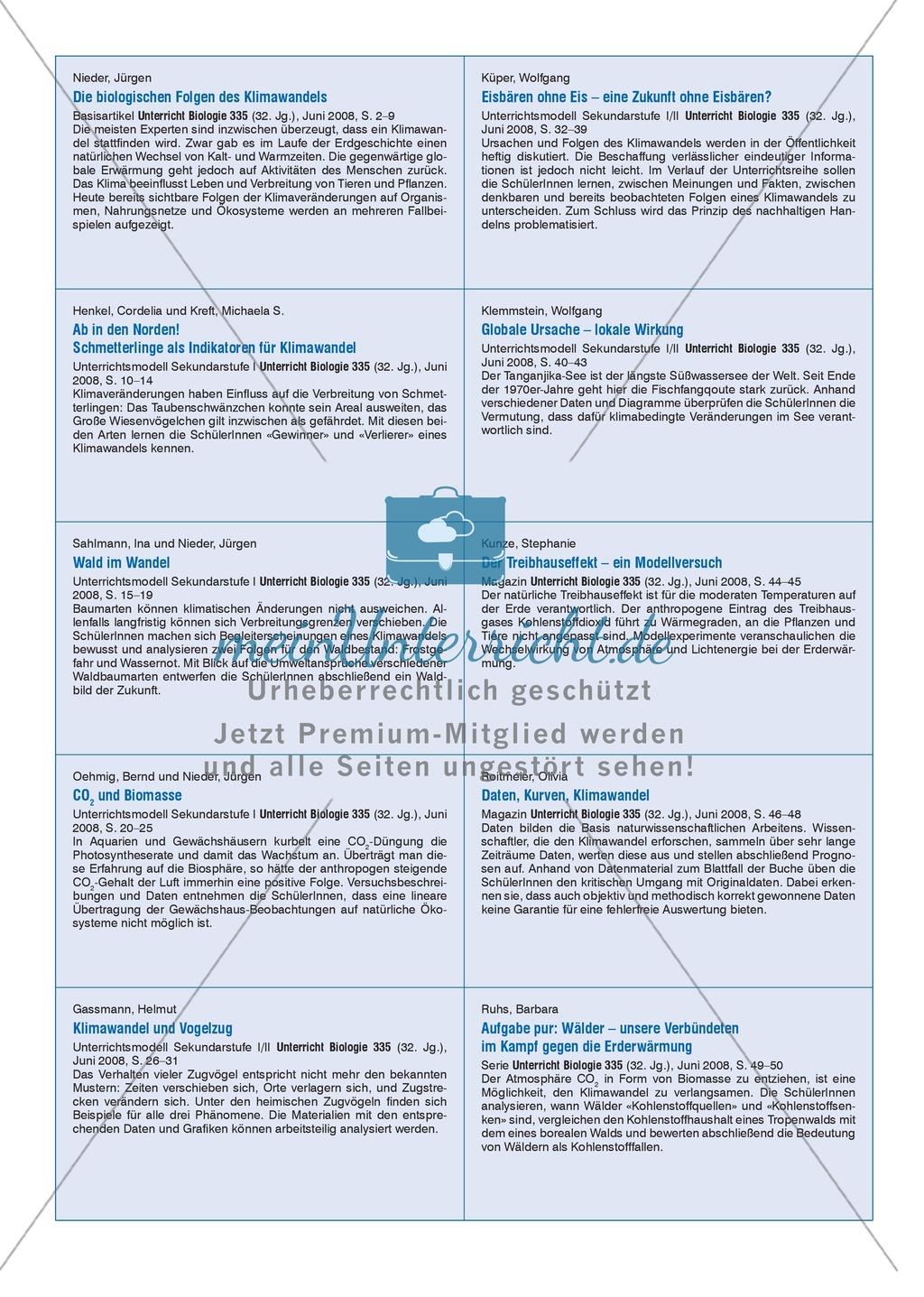 Der Treibhauseffekt - ein Modellversuch Preview 2