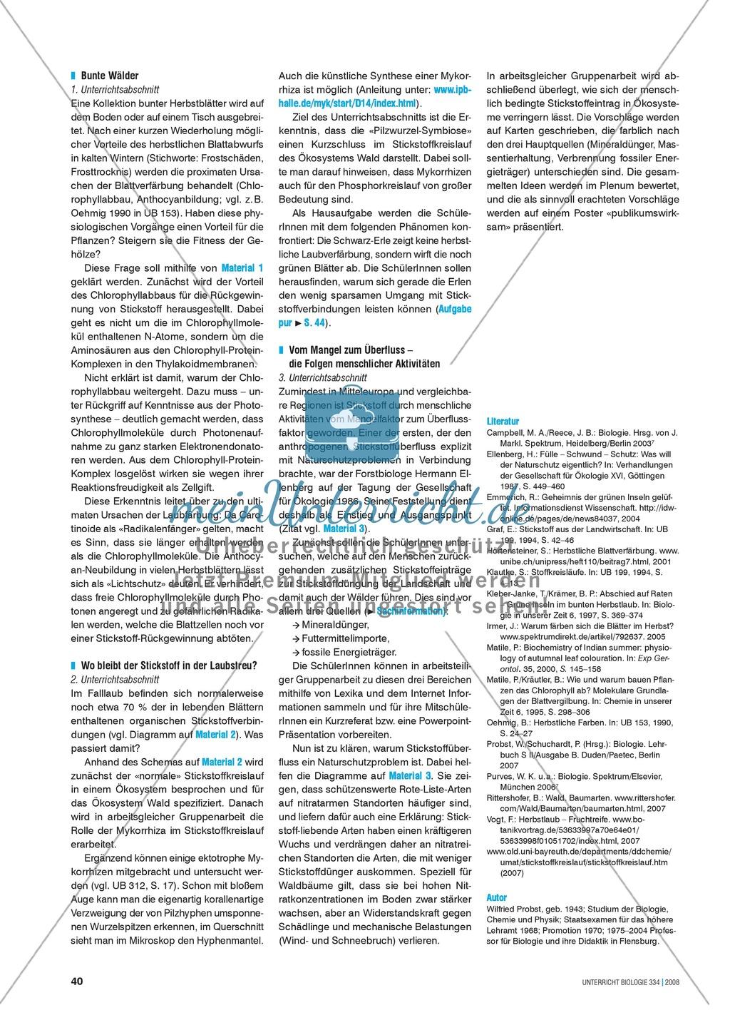 Der Stickstoff im Ökosystem Wald - Info-Text und Aufgaben Preview 5