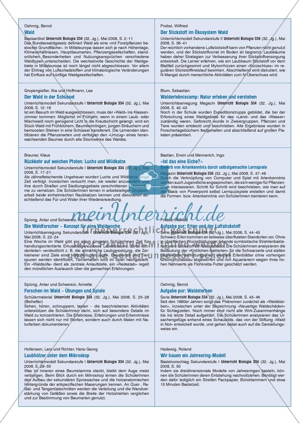 Der Stickstoff im Ökosystem Wald - Info-Text und Aufgaben Preview 6