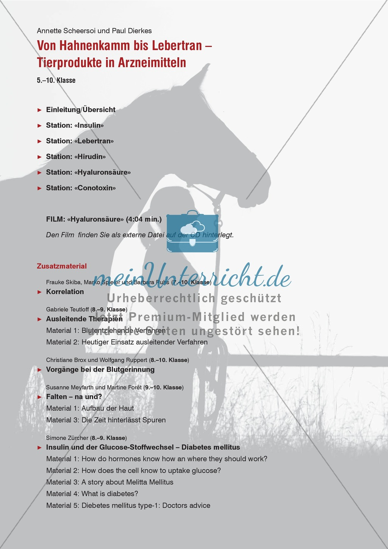 Tier und Mensch: Tierprodukte in Arzneimitteln Preview 1