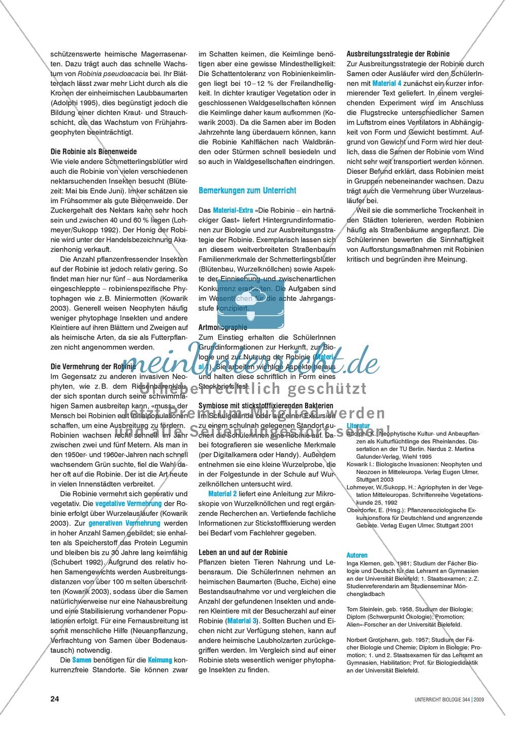 Neobiota: Die Ausbreitung der
