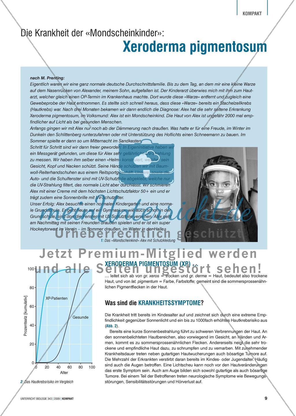 """Genetik: Untersuchung der erblich bedingten Krankheit Xeroderma pigmentosum (""""Mondscheinkinder"""") Preview 1"""