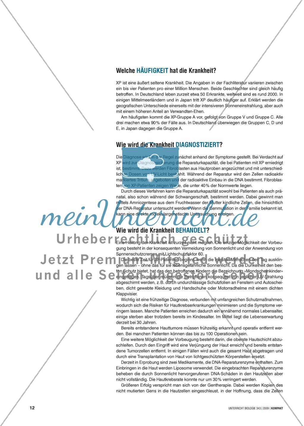 """Genetik: Untersuchung der erblich bedingten Krankheit Xeroderma pigmentosum (""""Mondscheinkinder"""") Preview 4"""
