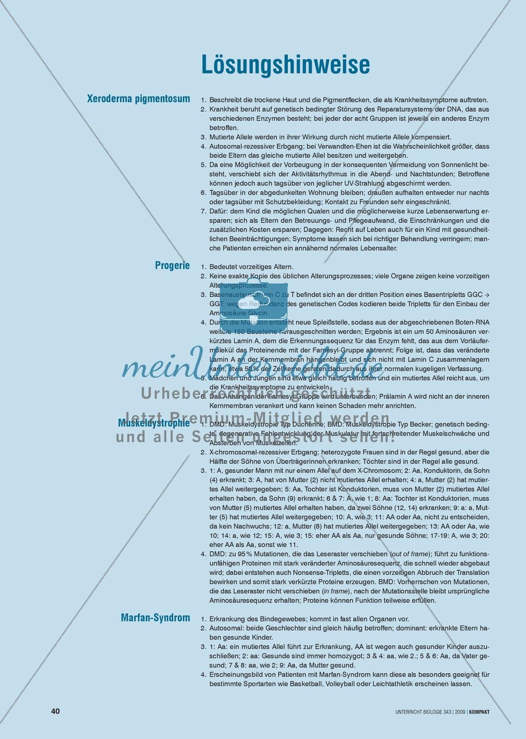 Genetik: Untersuchung der erblich bedingten Krankheit Xeroderma pigmentosum (