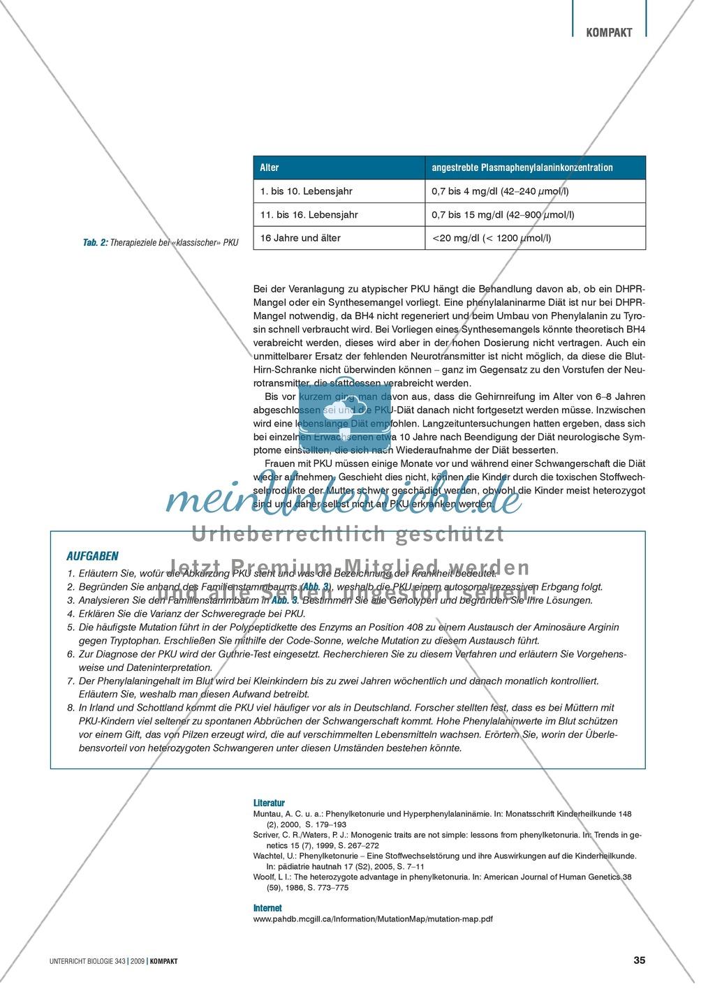 Genetik: Untersuchung erblich bedingter Erkrankungen der Leber am Beispiel der Phenylketonurie Preview 4