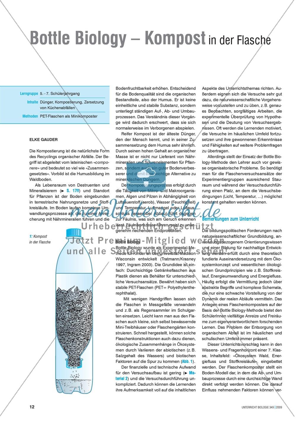 Stoffkreisläufe: Modell zur Kompostierung mittels einer Plastikflasche Preview 0