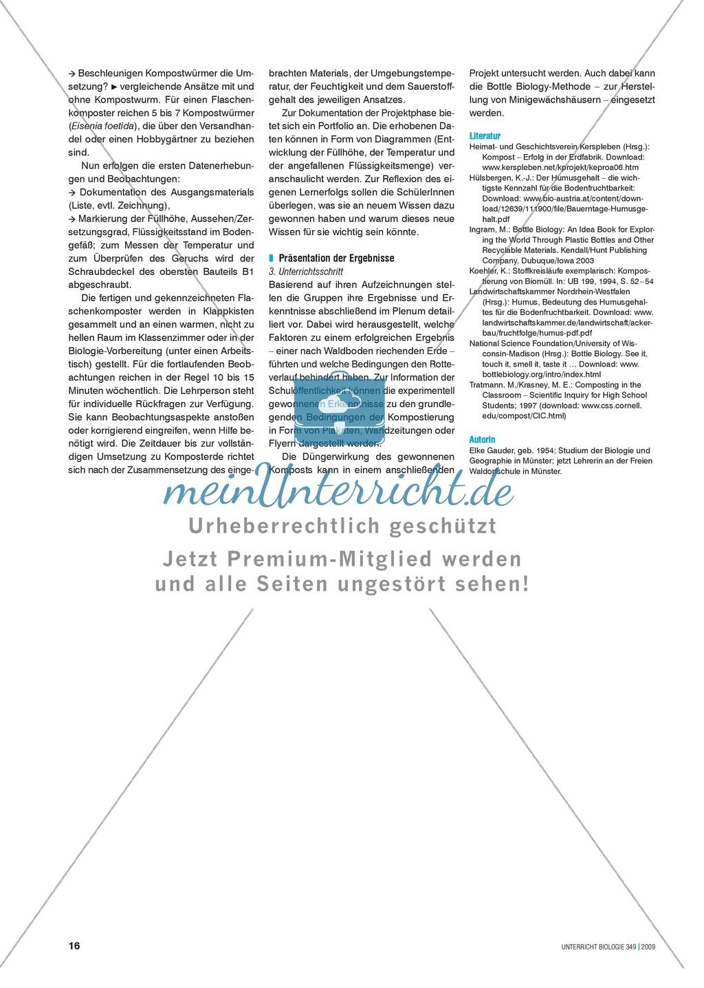 Stoffkreisläufe: Modell zur Kompostierung mittels einer Plastikflasche Preview 5