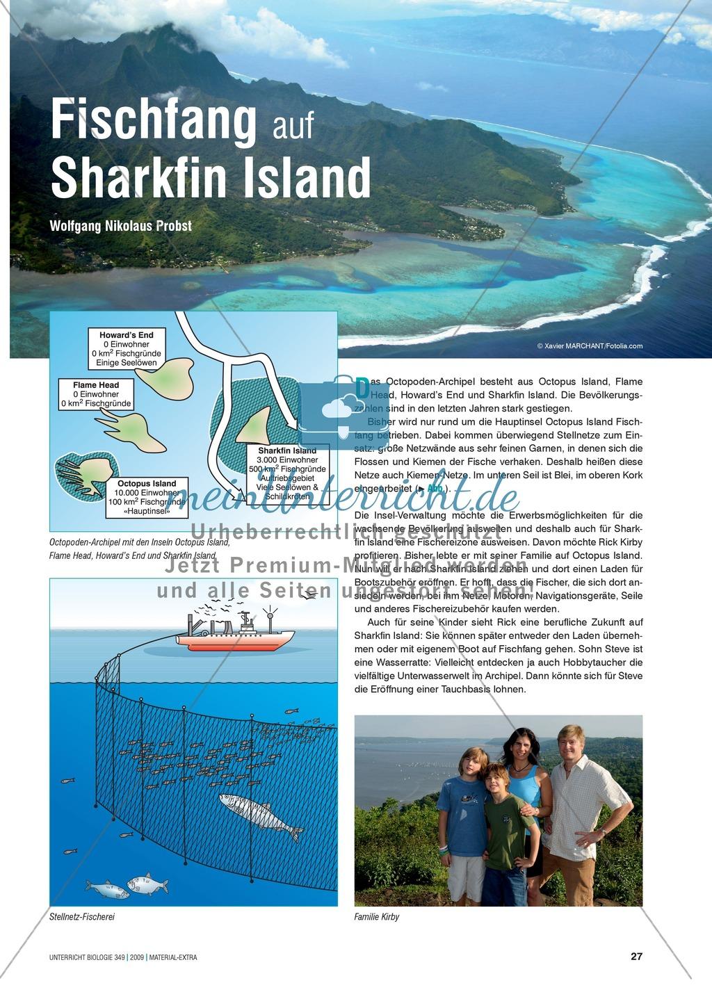 Stoff- und Energieflüsse in einem marinen Ökosystem entdecken und verstehen am Beispiel von Fischfang Preview 3