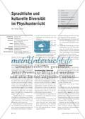Sprachliche und kulturelle Diversität im Physikunterricht Preview 1