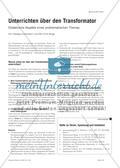 Unterrichten über den Transformator - Didaktische Aspekte eines problematischen Themas Preview 1