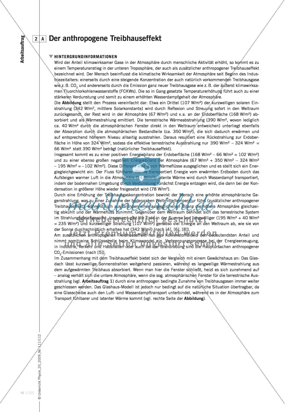 Fachübergreifender Unterricht zum Thema Kohlenstoffdioxid  und Klimawandel. Mit Infotext und Arbeitsblättern. Preview 4