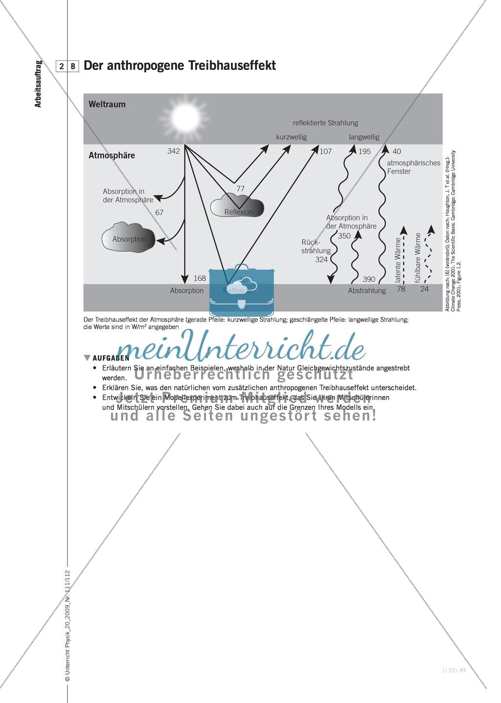 Fachübergreifender Unterricht zum Thema Kohlenstoffdioxid  und Klimawandel. Mit Infotext und Arbeitsblättern. Preview 5