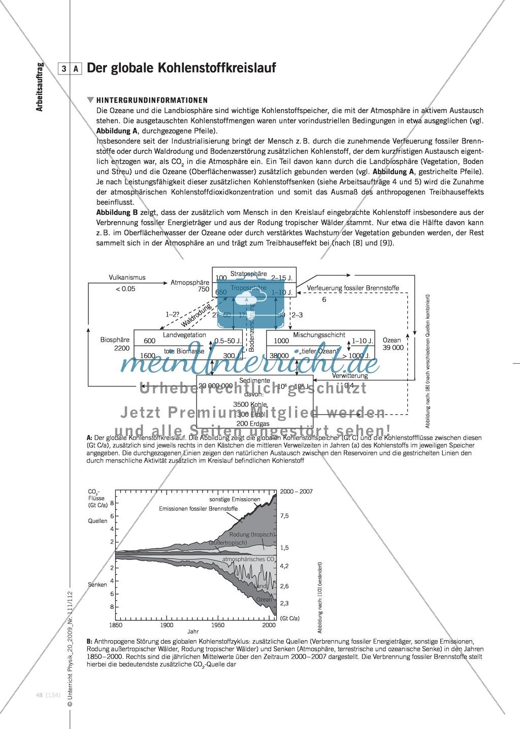 Fachübergreifender Unterricht zum Thema Kohlenstoffdioxid  und Klimawandel. Mit Infotext und Arbeitsblättern. Preview 6