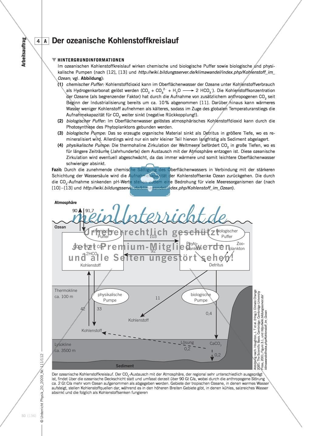 Fachübergreifender Unterricht zum Thema Kohlenstoffdioxid  und Klimawandel. Mit Infotext und Arbeitsblättern. Preview 8