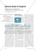Optische Geräte im Vergleich - Expertentraining – eine Möglichkeit zur Behandlung des Themas optische Geräte Preview 1
